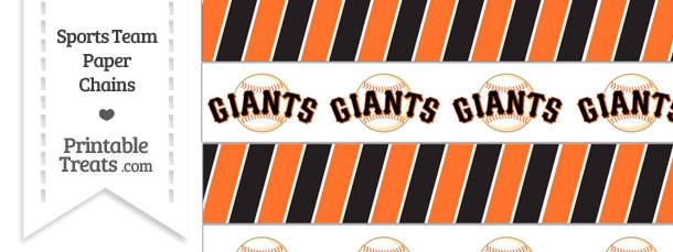 San Francisco Giants Paper Chains