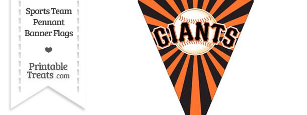 San Francisco Giants Pennant Banner Flag