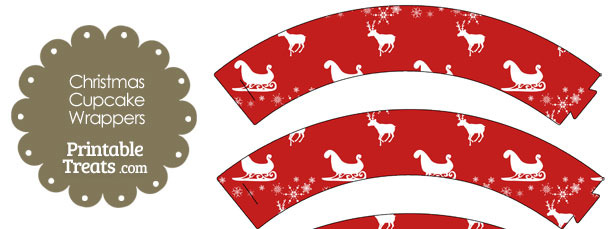 Santas Sleigh Cupcake Wrappers