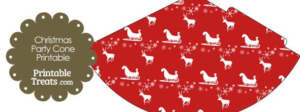 Santas Sleigh Party Cone