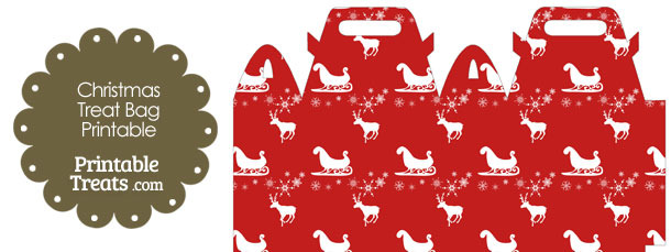 Santas Sleigh Treat Bag
