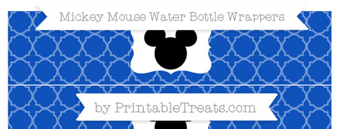 Free Sapphire Blue Quatrefoil Pattern Mickey Mouse Water ...