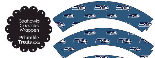 Seattle Seahawks Logo Cupcake Wrappers