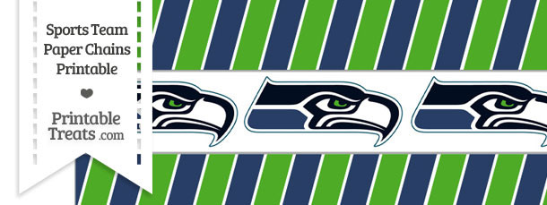 Seattle Seahawks Paper Chains