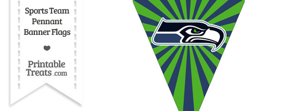 Seattle Seahawks Pennant Banner Flag