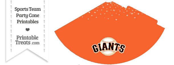 SF Giants Party Cone Printable
