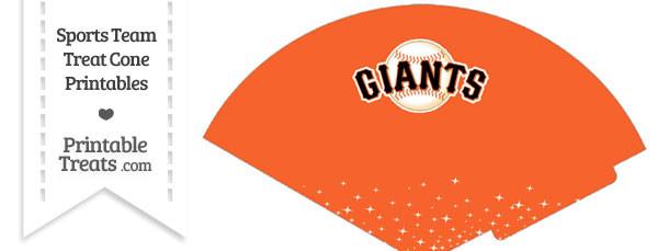 SF Giants Treat Cone Printable