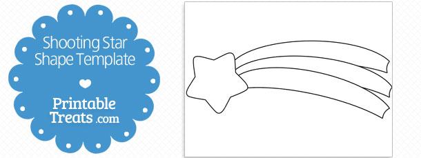 free-shooting-star-shape-template