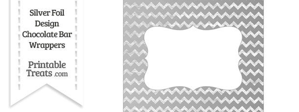 Silver Foil Chevron Chocolate Bar Wrappers