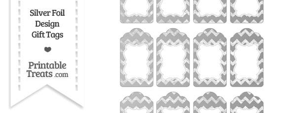 Silver Foil Chevron Gift Tags