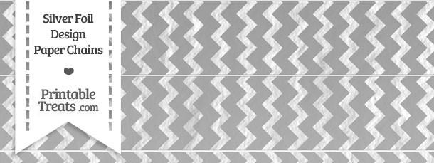 Silver Foil Chevron Paper Chains