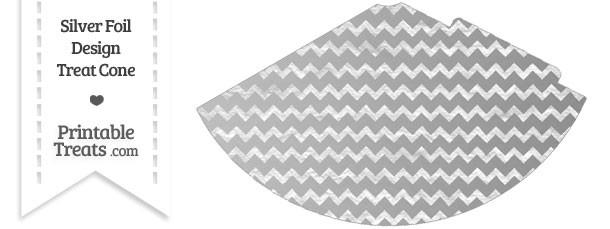 Silver Foil Chevron Party Cone
