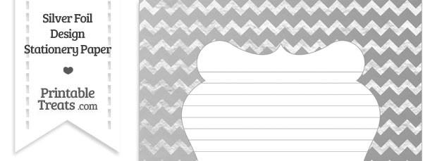 Silver Foil Chevron Stationery Paper