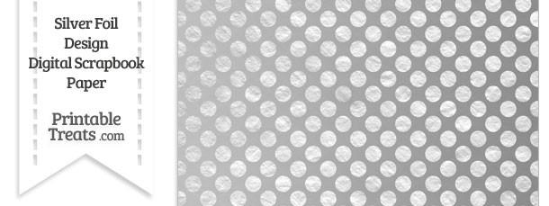 Silver Foil Dots Digital Scrapbook Paper