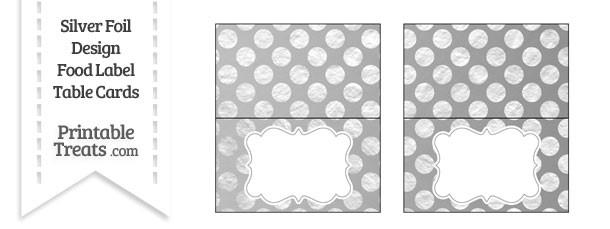 Silver Foil Dots Food Labels