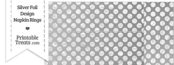 Silver Foil Dots Napkin Rings