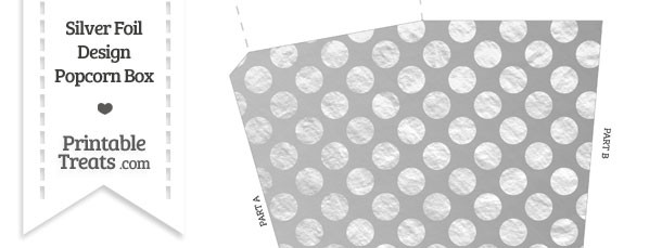 Silver Foil Dots Popcorn Box
