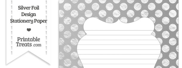 Silver Foil Dots Stationery Paper
