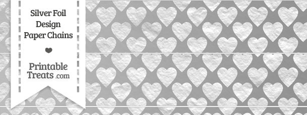 Silver Foil Hearts Paper Chains