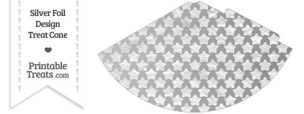 Silver Foil Stars Party Cone