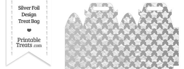 Silver Foil Stars Treat Bag