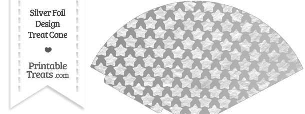 Silver Foil Stars Treat Cone