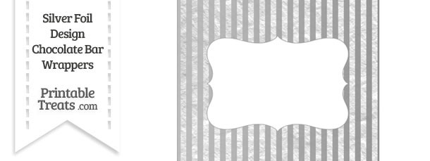 Silver Foil Stripes Chocolate Bar Wrappers