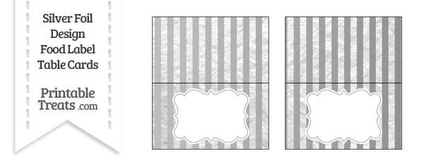 Silver Foil Stripes Food Labels
