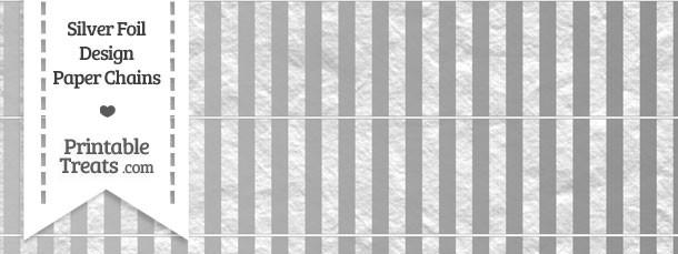 Silver Foil Stripes Paper Chains