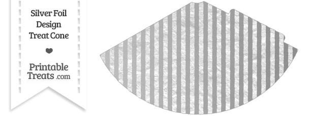 Silver Foil Stripes Party Cone