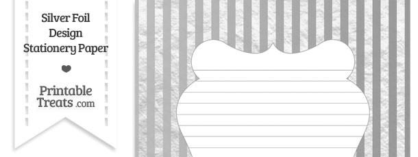 Silver Foil Stripes Stationery Paper