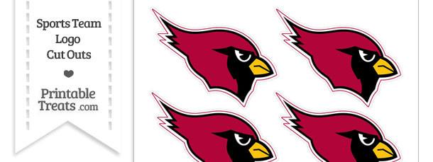 Small Arizona Cardinals Logo Cut Outs