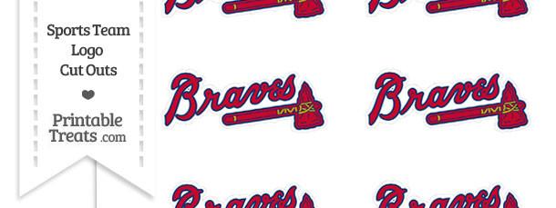 Small Atlanta Braves Logo Cut Outs