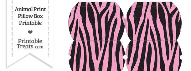 Small Baby Pink Zebra Print Pillow Box