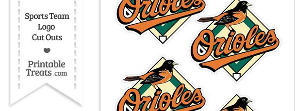 Small Baltimore Orioles Logo Cut Outs