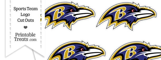 Small Baltimore Ravens Logo Cut Outs