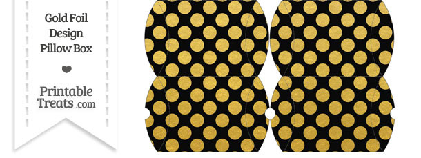 Small Black and Gold Foil Dots Pillow Box