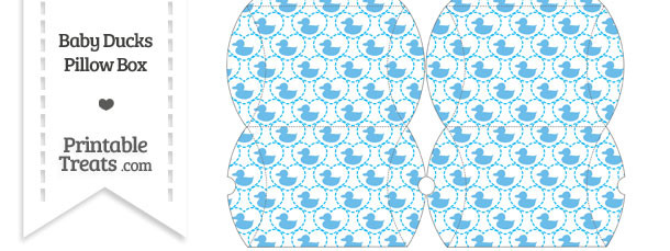 Small Blue Baby Ducks Pillow Box