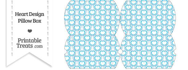 Small Blue Heart Design Pillow Box
