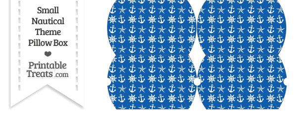 Small Blue Nautical Pillow Box