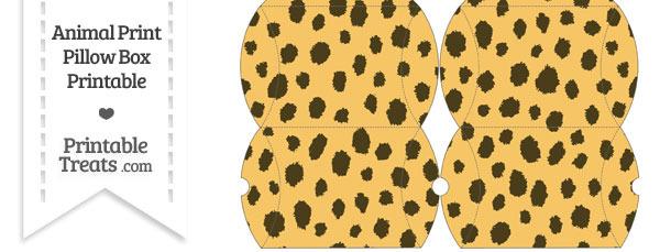 Small Cheetah Print Pillow Box