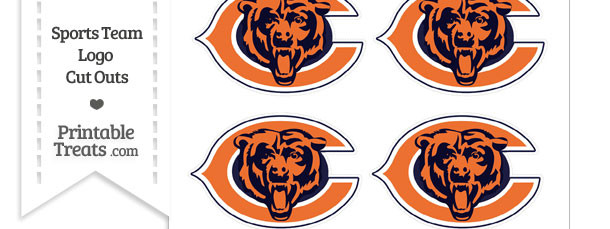 Small Chicago Bears Logo Cut Outs
