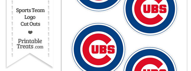 Small Chicago Cubs Logo Cut Outs