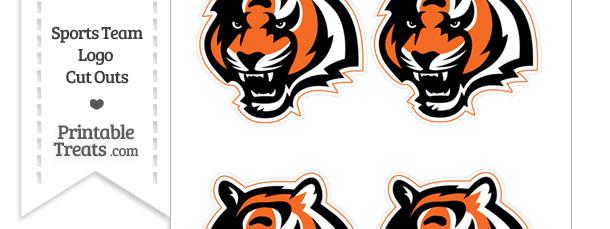 Small Cincinnati Bengals Logo Cut Outs