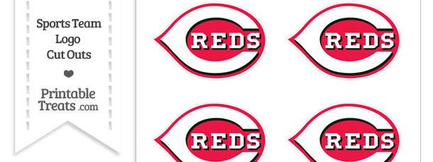 Small Cincinnati Reds Logo Cut Outs