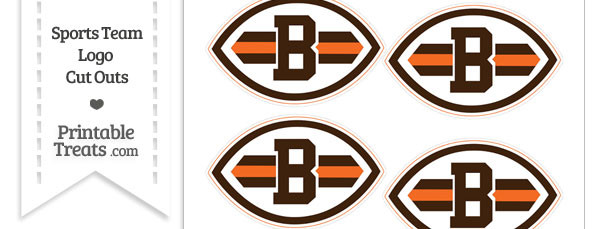 Small Cleveland Browns Logo Cut Outs