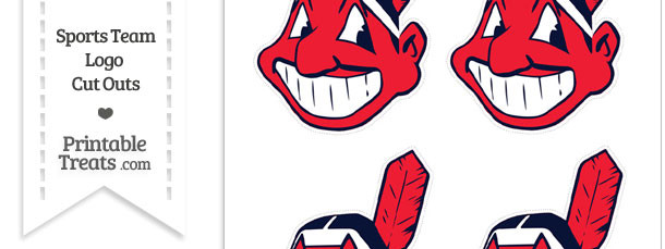 Small Cleveland Indians Logo Cut Outs