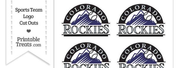 Small Colorado Rockies Logo Cut Outs
