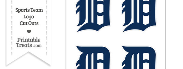 Small Detroit Tigers Logo Cut Outs