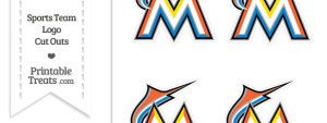 Small Florida Marlins Logo Cut Outs